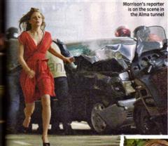 Morrison at the scene of the crash.