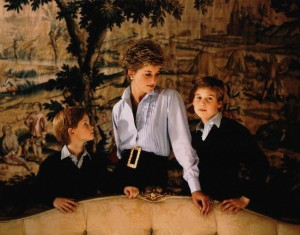 NPG x126973, Prince Henry of Wales; Diana, Princess of Wales; Prince William of Wales